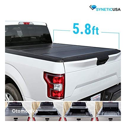Syneticusa Aluminum Hard Folding Tonneau Cover Tri Fold Cargo Truck Bed Cover for 2009
