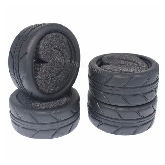 """Wholesale Tires Free Shipping 4pcs 1 02"""" Rubber Rc Road Tires with Foam Inserts Od 63mm Id 52mm"""