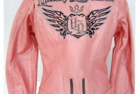 Harley Davidson Womens Clothes Harley Davidson Jacket Women M Medium Pink Leather Biker Motor Cycle